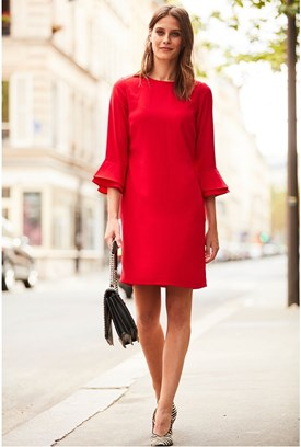 Scarlet Red Double Cuff Dress
